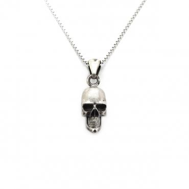 Necklace in silver tête de mort