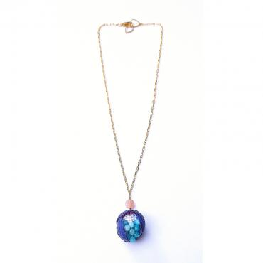 Necklace Thethys blue