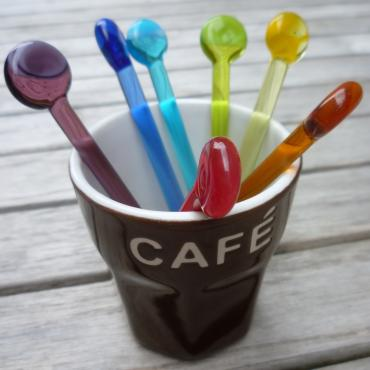 Coffee stirrers flat end
