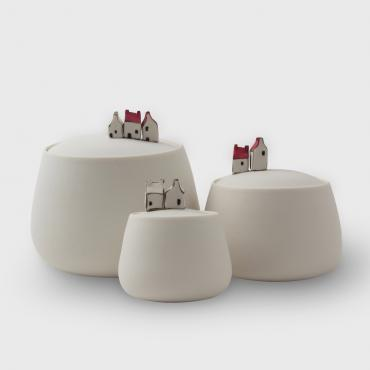 Set of 3 boxes un porcelain