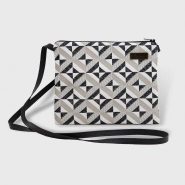 Small Crossbody bag Graphique Beige and black