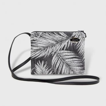Small Crossbody bag Palmiers grey