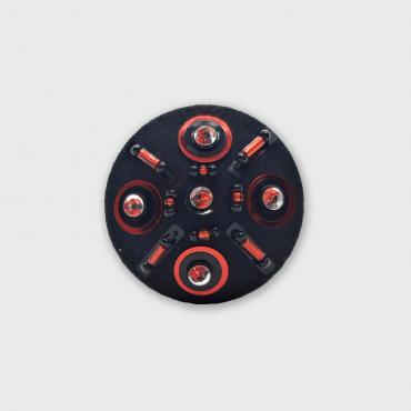Magnetic brooch Orpin Rouge