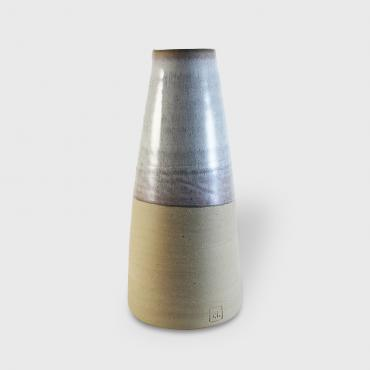 Conical Vase MM White - raw clay
