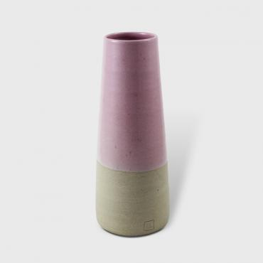 Vase conique MM Rose - terre brute