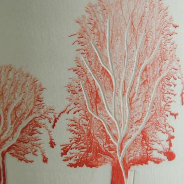 Vase Arbres red (tall)