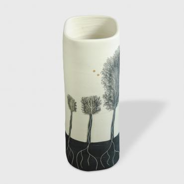 Vase Arbres black (medium)