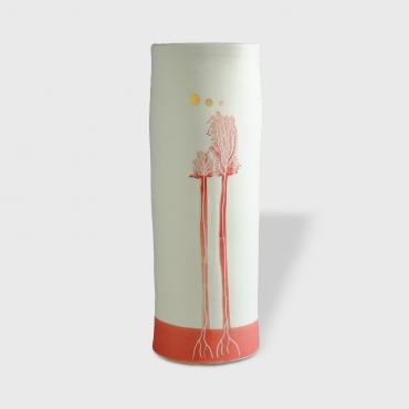 Vase Arbres red medium