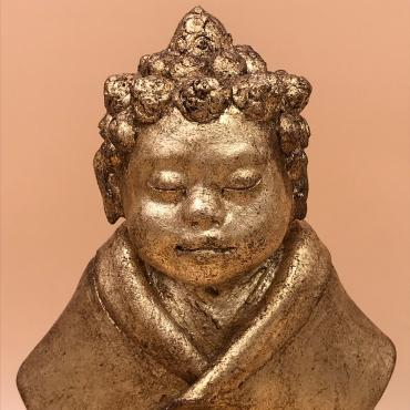 Sculpture APOO doré Little Bouddha