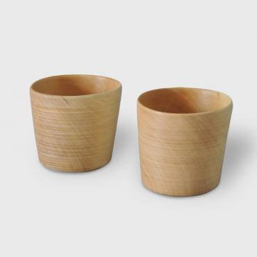 Set of two wood glasses
