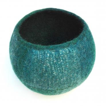 Pot Mesh&felt tall Blue/green