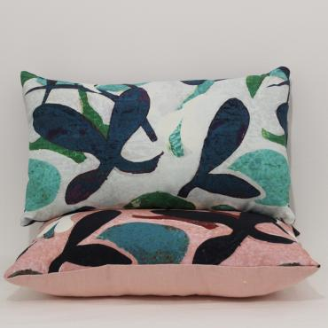 Cushion Aloha blue/green