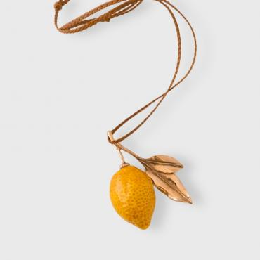 Long necklace Lemon