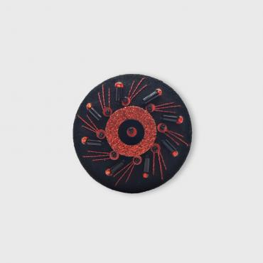 Broche Aimantée Herbe Folle Rouge