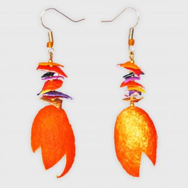 Boucles d'oreilles Bouquet orange