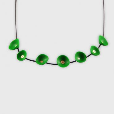 Necklace Coquillages vert et or