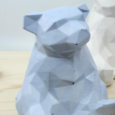 Decorative Bear in blue concrete