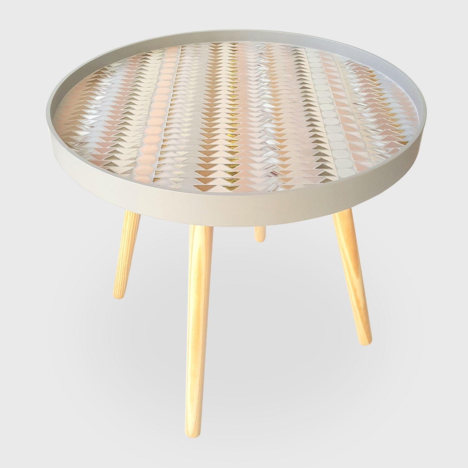Table In Mosaic Up And Down Empreintes